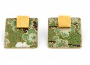 Orecchini in ottone e carta giapponese
